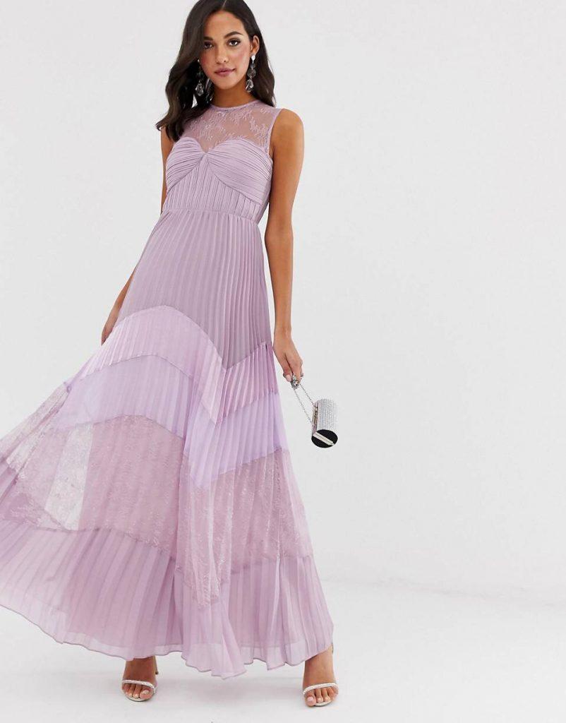 vestido largo para boda de nocje