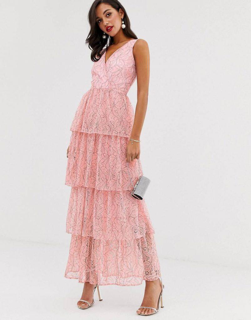 vestido largo para boda noche