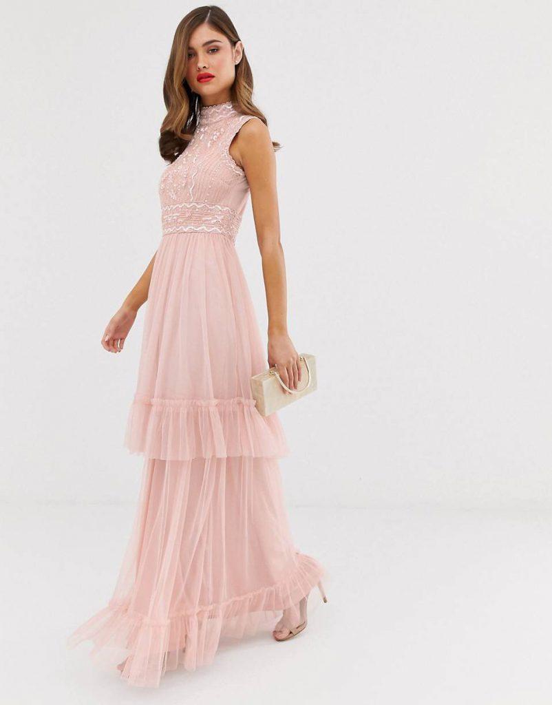 vestido largo boda de noche