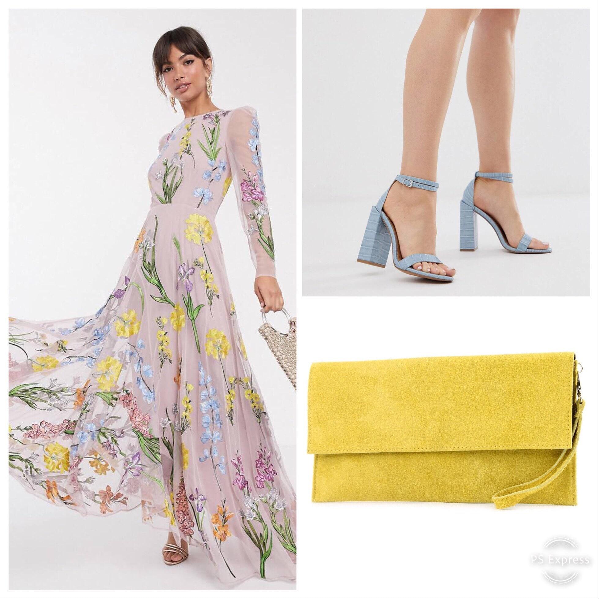 Combinación de colores para invitadas de boda