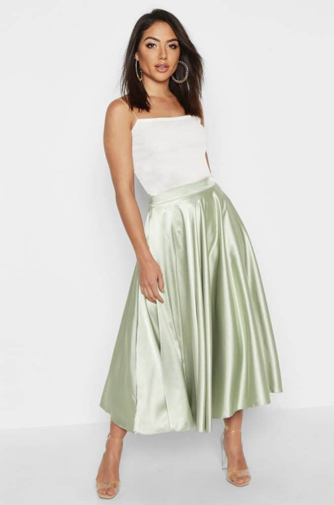 Faldas midi para invitadas de boda