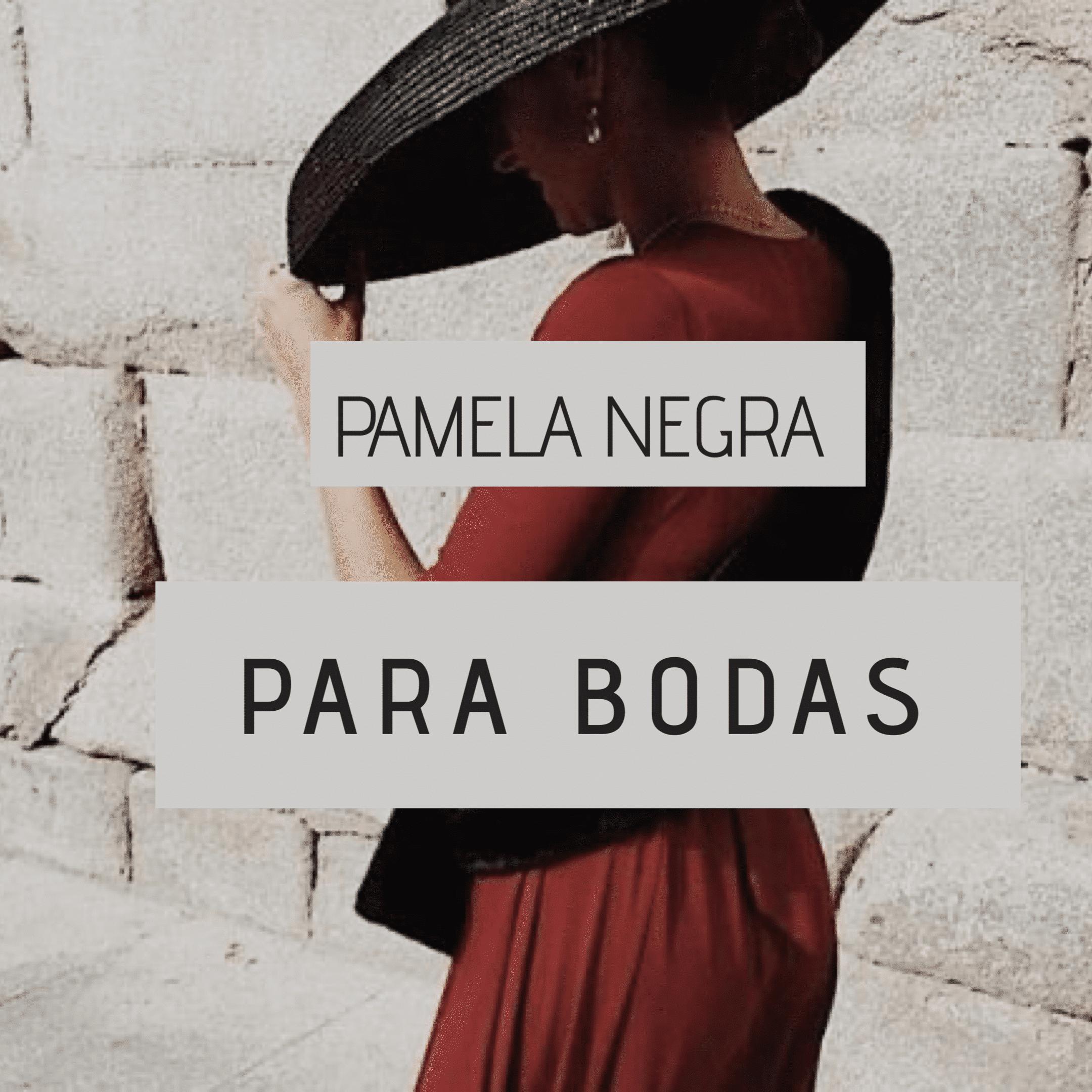 Pamela negra para boda