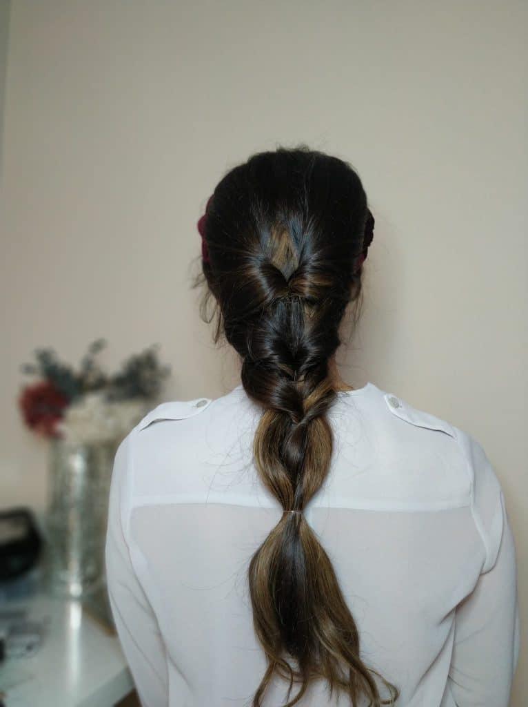 Tutorial peinado para invitada de boda - trenza con 4 gomas