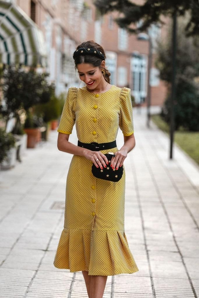 Vestido amarillo para invitadas de boda