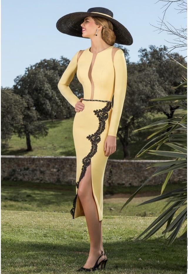 vestido amarillo para invitada de boda