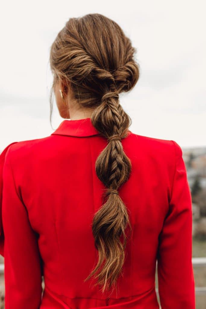 Tutorial de peinado invitada de boda maxi trenza
