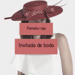 Invitadas de boda con pamela roja