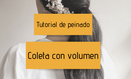 Tutorial de peinado – Coleta con volumen