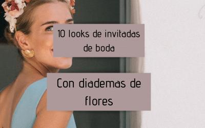 10 looks de invitadas de boda con diademas de flores