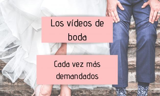 Los vídeos de boda, cada vez más demandados