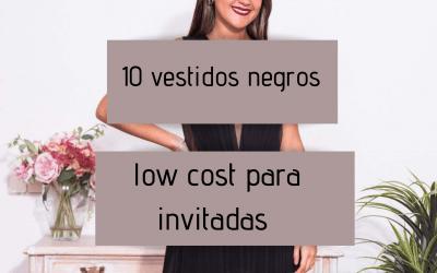 10 vestidos negros low cost para invitadas