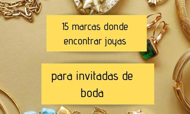 15 Marcas donde encontrar joyas para invitadas de boda