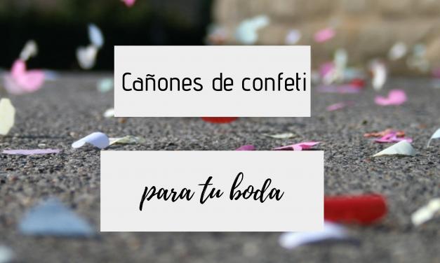 Cañones de confeti en tu boda – un toque mágico para tu gran día